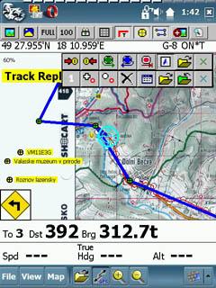 OziExplorerCE navigace